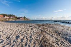 Seaside of historic Dutch Village Urk Royalty Free Stock Image