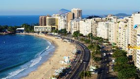 Seaside Hotels and Apartment Rio De Janeiro Copacabana Beach Royalty Free Stock Images