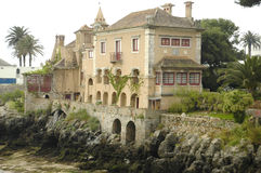 Seaside House. Touristic seaside town of Cascais,Portugal,E.U Royalty Free Stock Photo