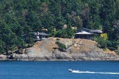 Seaside houses stock image