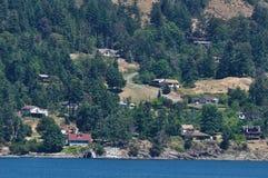 Seaside houses stock photo
