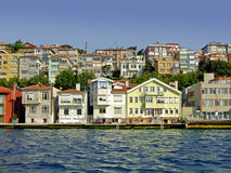 Seaside houses Royalty Free Stock Images