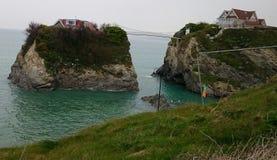 Seaside houses on cliffs Stock Image