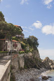 Seaside houses in Italy stock photo