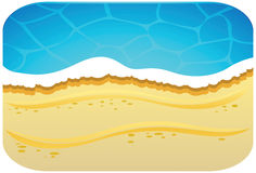 Seaside illustration Royalty Free Stock Photo