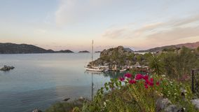Seaside kekova in Turkey, holiday place. The perfect place for a holiday, colorful place, yummy bay stock images