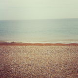 Seaside in Kent England. Deadpan shot of the sea in Deal, Kent Royalty Free Stock Photo
