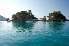 Seaside Landscape. Seaside scene with boats off Parga, Greece Stock Images