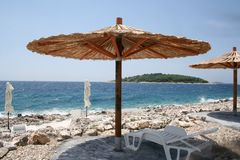 Seaside landscape on the Adriatic, croatia stock image