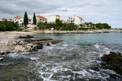 Seaside landscape on the Adriatic, croatia stock images