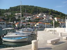 Seaside landscape on the Adriatic sea, croatia stock photos