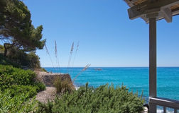 Seaside landscape in Canyamel. Mallorca on a sunny summer day in Balearic islands, Spain Stock Images