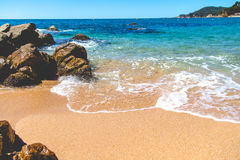 Seaside landscape of Catalonia, vivid color view Royalty Free Stock Images