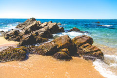 Seaside landscape of Catalonia, vivid color view Stock Photography