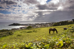 Seaside landscape in Cornwall Stock Image
