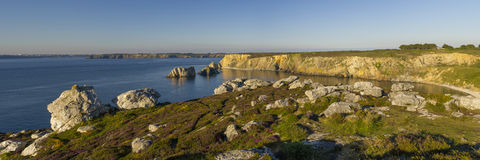 Seaside landscape near Crozon Royalty Free Stock Image