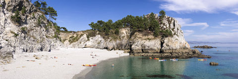 Seaside landscape near Crozon Stock Image