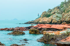 Seaside lava Royalty Free Stock Image