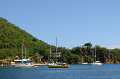 Seaside of Les Saintes in Guadeloupe Royalty Free Stock Image