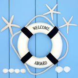 Seaside Lifebuoy Royalty Free Stock Photography