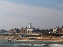 Seaside and lighthouse Royalty Free Stock Images