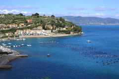 Seaside in Liguria, Italy Royalty Free Stock Photography