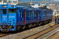 Seaside Liner at Nagasaki Station Stock Photography