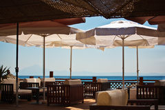 Seaside lounge restaurant Stock Photography