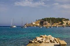 Seaside of Mallorca. Port de Soller at the seaside of Mallorca, Spain Stock Image