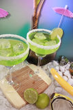 Seaside margaritas Stock Photography