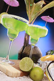 Seaside margaritas Royalty Free Stock Photos