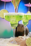 Seaside margaritas Royalty Free Stock Images