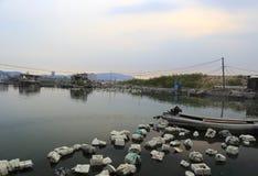 Seaside marine aquaculture farms Royalty Free Stock Photos