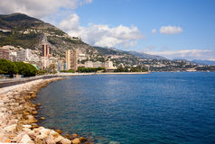 Seaside,Monaco. Monaco, one of the most beautiful cities Royalty Free Stock Photo