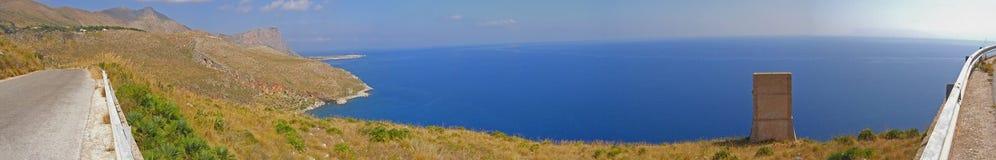 Seaside mountain landscape panorama Stock Photo