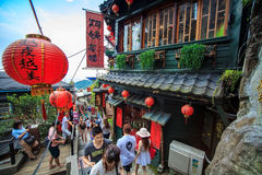 The seaside mountain town scenery in Jiufen Royalty Free Stock Images