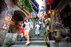 The seaside mountain town scenery in Jiufen Royalty Free Stock Photo
