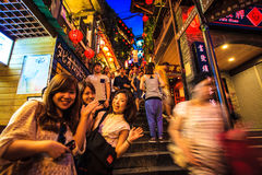The seaside mountain town scenery in Jiufen Royalty Free Stock Photos