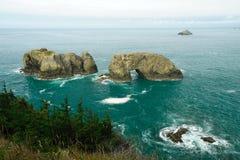 Seaside natural rock bridge Stock Image