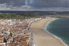 Seaside - Nazaré beach Stock Image