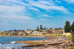 Seaside neighbourhood, suburb on sunny day. Sydney, Australia Royalty Free Stock Image