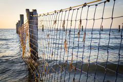 Seaside Nets Royalty Free Stock Photography