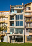 Seaside new building Pomorie in Bulgaria Stock Photography