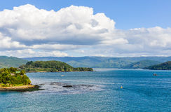 Seaside in Niebla, Valdivia, Chile Stock Photos