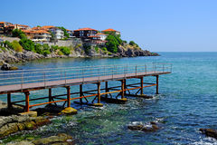 Seaside in old town of Sozopol Stock Images