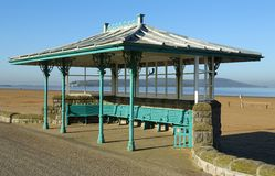 Seaside Ornate Shelter Royalty Free Stock Photography