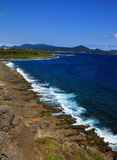 Seaside of The pacific ocean taiwan stock images