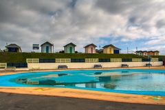 Seaside paddling pool Stock Photography