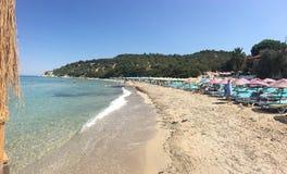 Seaside panorama of touristic town Fame beach Bademli village Dikili, Izmir Ayvalik.  It is a small village in the northwestern Ae Stock Photo