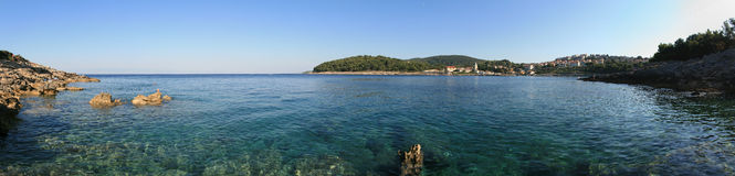 Seaside panoramic view Royalty Free Stock Images
